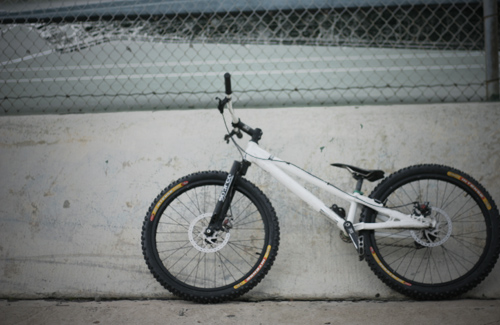 Czar Freetrials trials bike on Intense DH tires